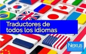 traductores profesionales de todos los idiomas